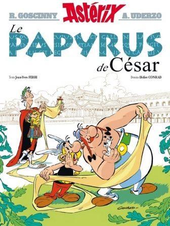 Critique de la bande dessinée astérix le papyrus de césar