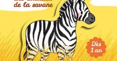 chronique de l'album jeunesse Les animaux de la savane