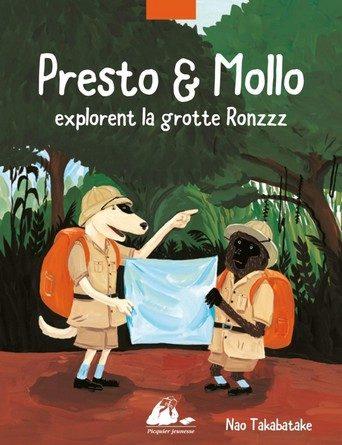 Chronique de l'album jeunesse Presto et Mollo explorent la grotte Ronzzz.