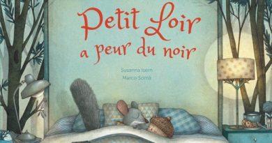 Chronique de l'album jeunesse Petit Loir a peur du noir.