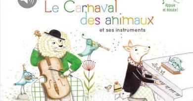 Chronique de l'album jeunesse Je découvre le Carnaval des animaux et ses instruments
