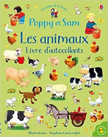 Chronique du livre d'autocollants Poppy et Sam – Les animaux