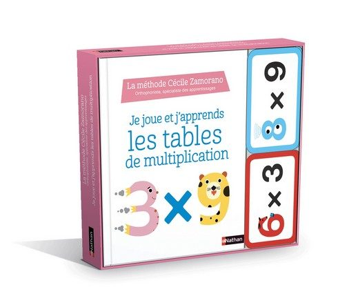 Chronique du livre d'activité Je joue et j'apprends les tables de multiplication