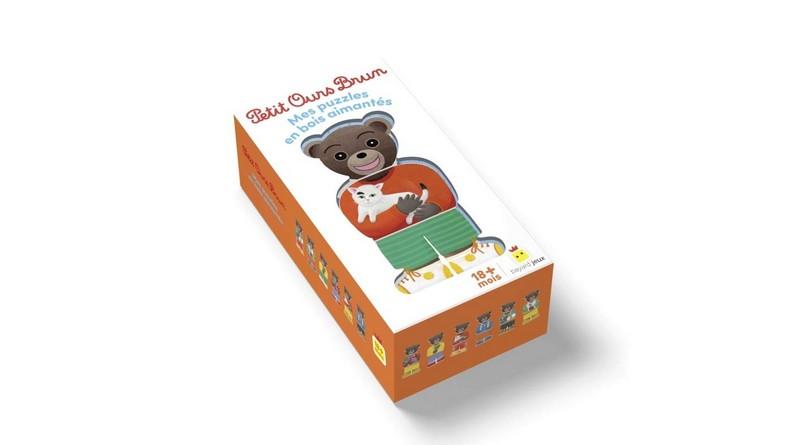 Chronique du coffret Petit Ours Brun – Mes puzzles en bois aimantés