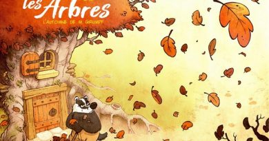 Chronique de l'album jeunesse Sous les arbres – L'automne de Monsieur Grumpf