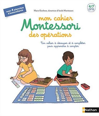 Chronique du livre Mon cahier Montessori des opérations